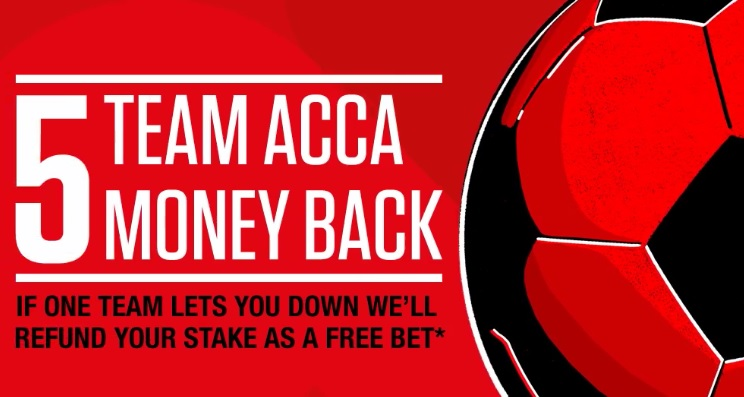 Ladbrokes Acca Insurance - Get Money back If 1 Team Let's You Down