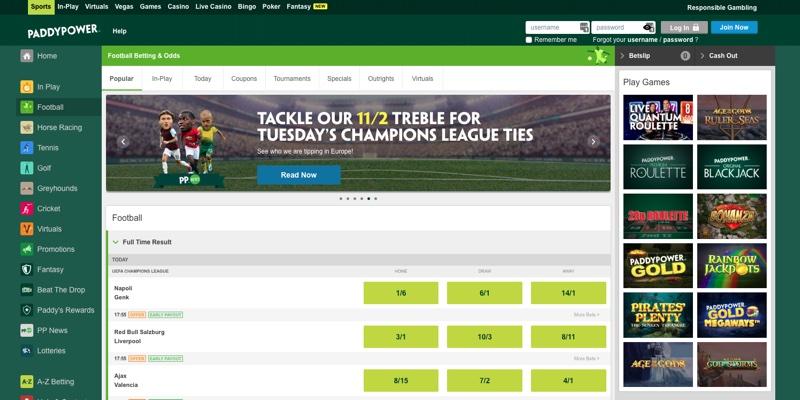 Paddy Power Football Betting