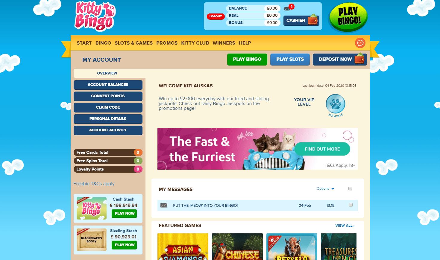 Kitty Bingo Bonus Code
