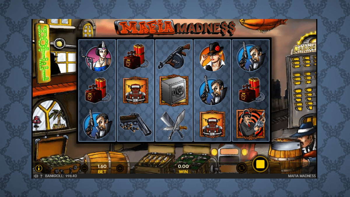 mafia madness slot screenshot
