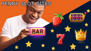 man play a slot game on his phone