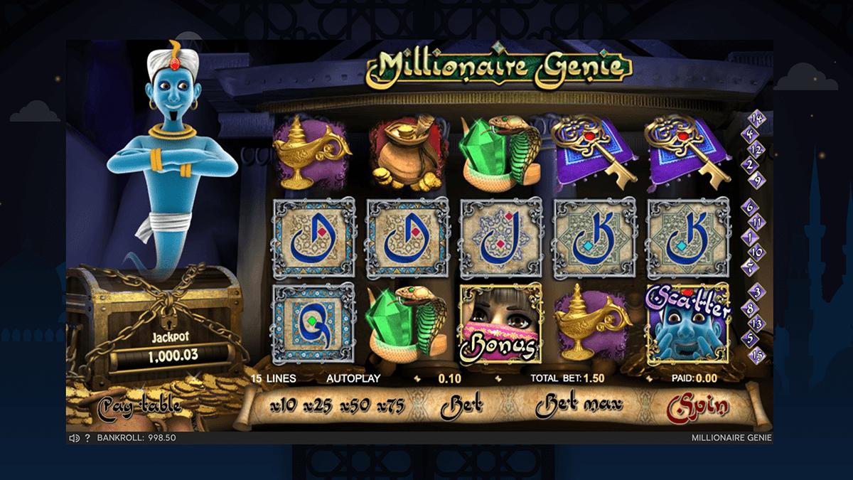 millionnaire genie slot screenshot