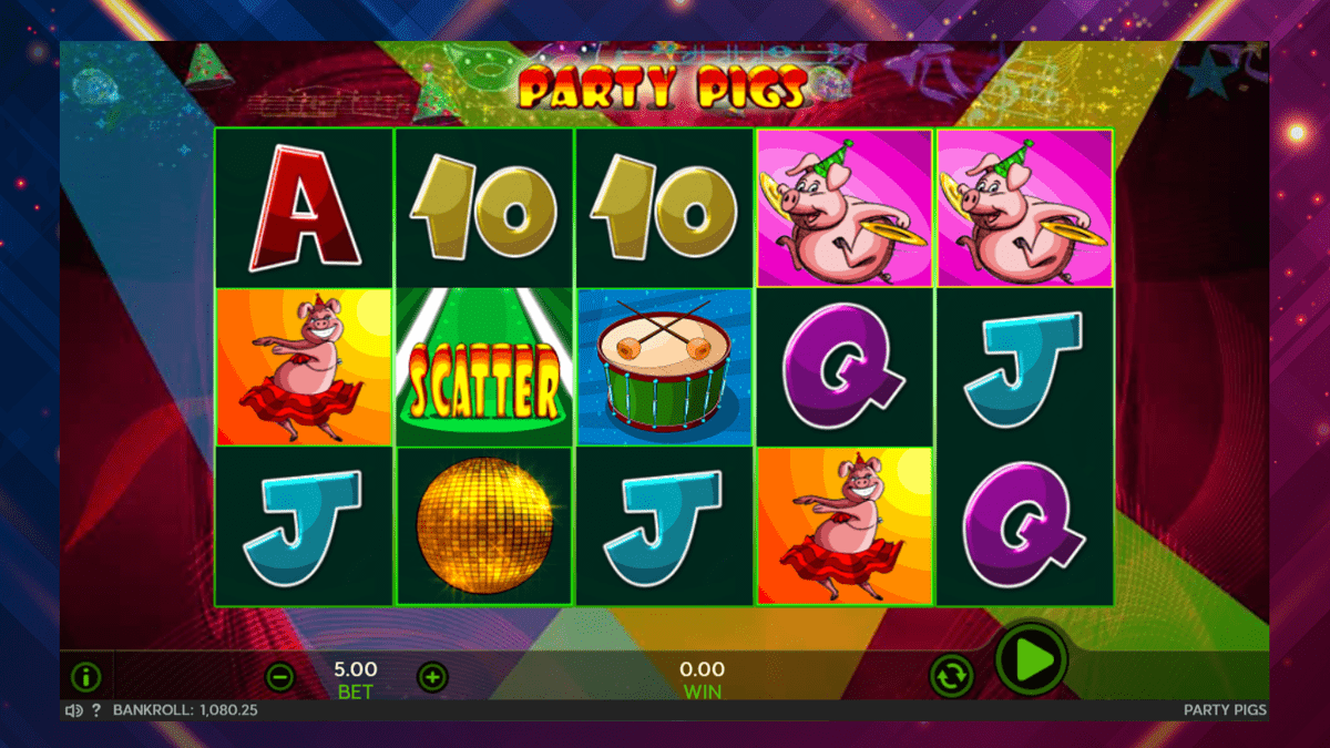 party pigs slot screenshot