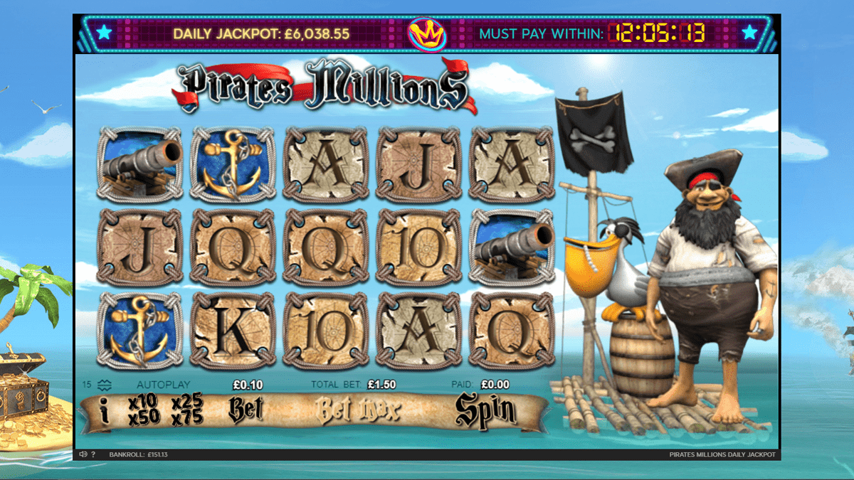 Pirates' Millions Slot Review – RTP, Features & Bonuses