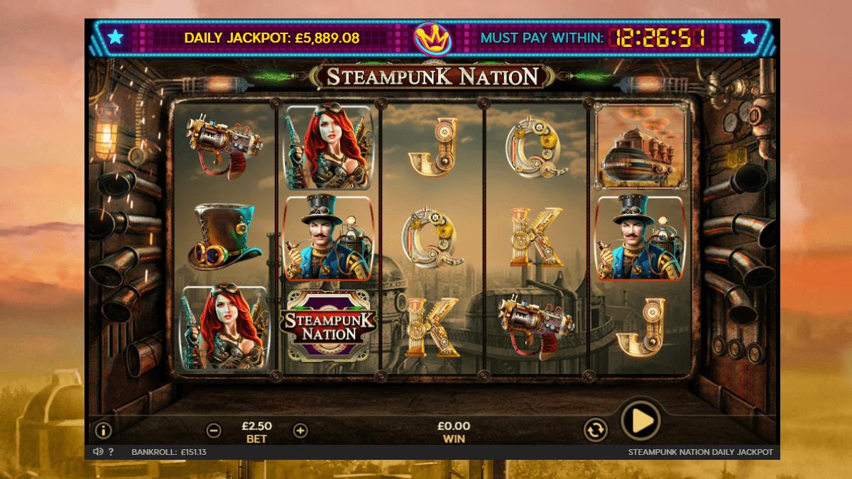 steampunk nation slot screenshot