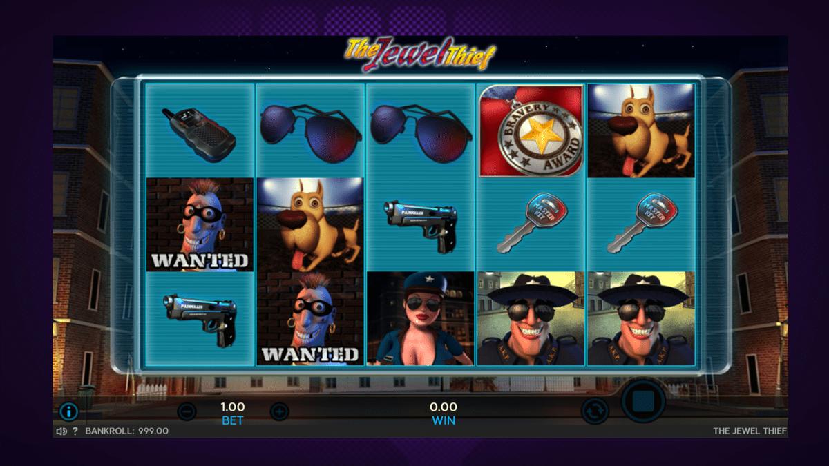 the jewel thief slot screenshot