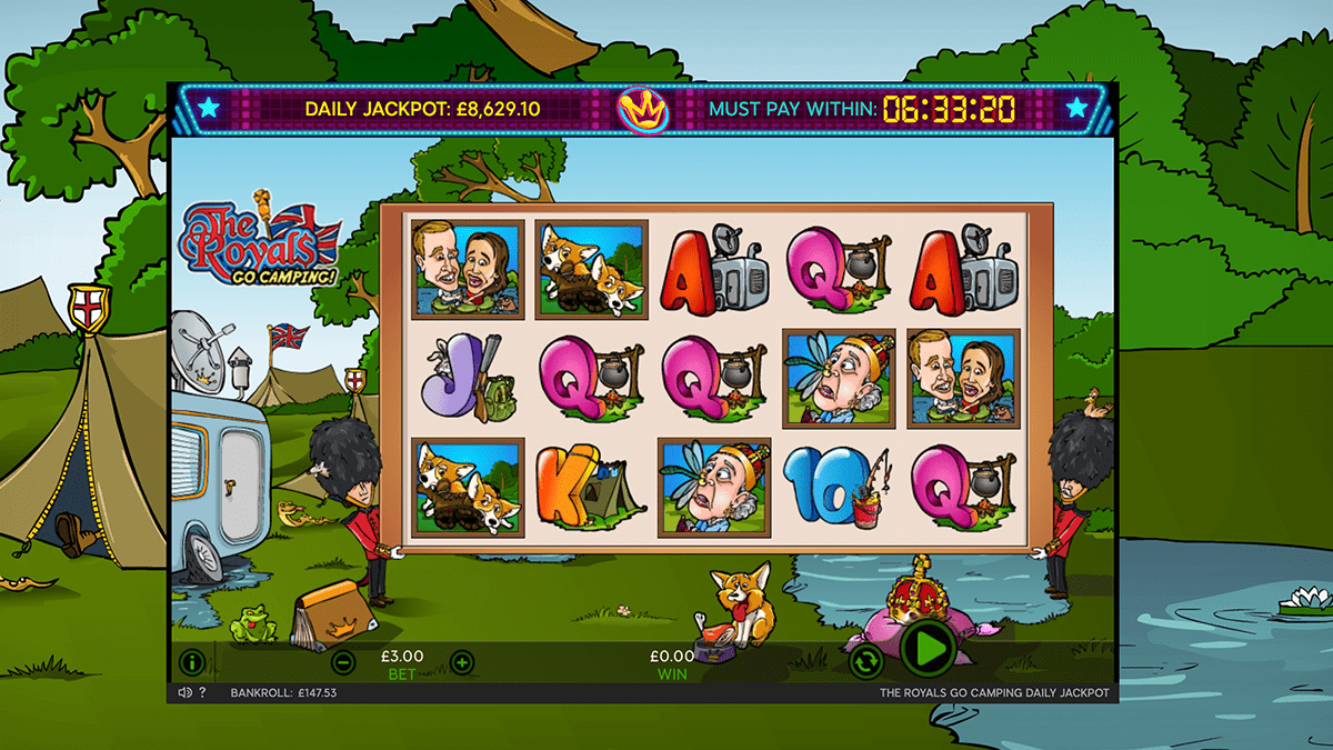 the royals go camping slot screen shot