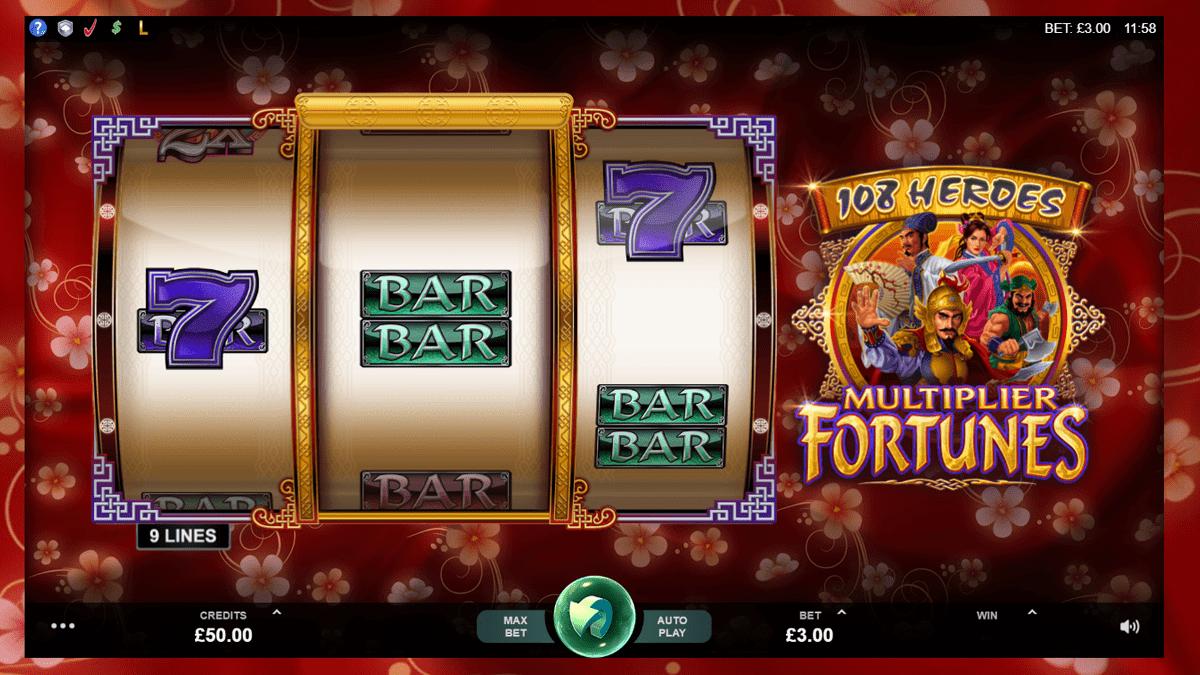 108 Heroes Multiplier Fortunes Slot Screenshot