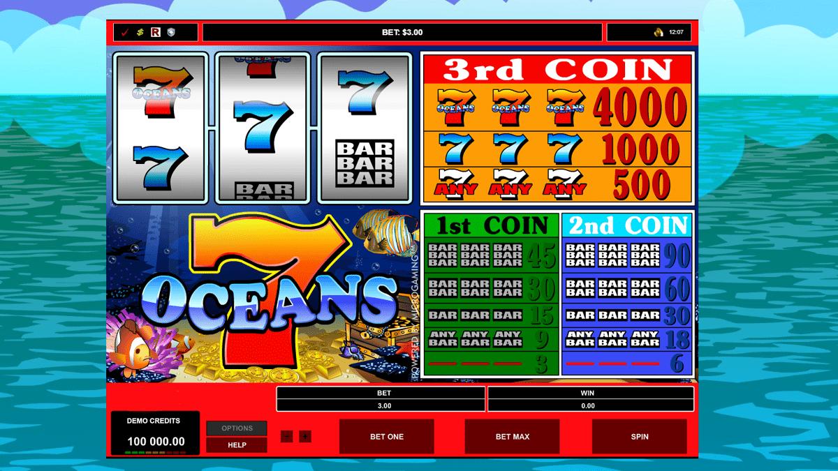 7 Oceans Slot Screenshot