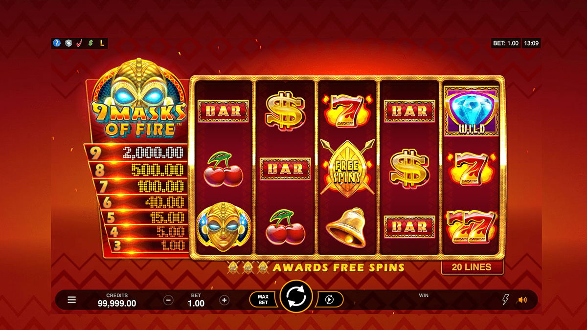 9 Masks Of Fire Slot Review – RTP, Features & Bonuses