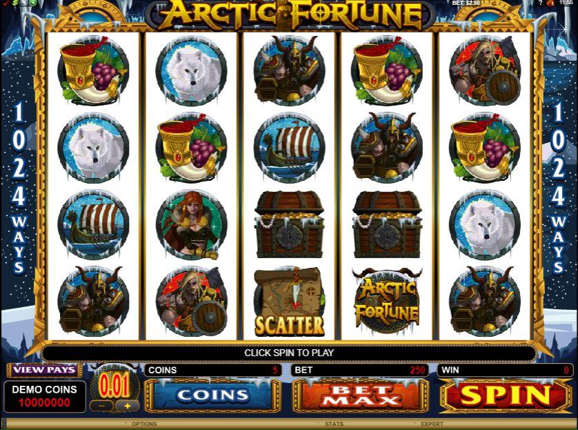 Arctic Fortune Gameplay
