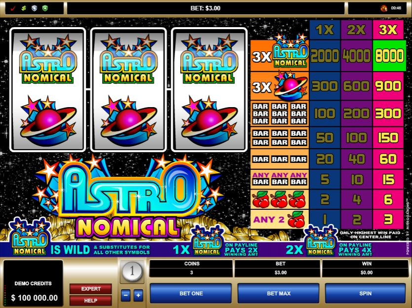 Astronomical Slot Gameplay