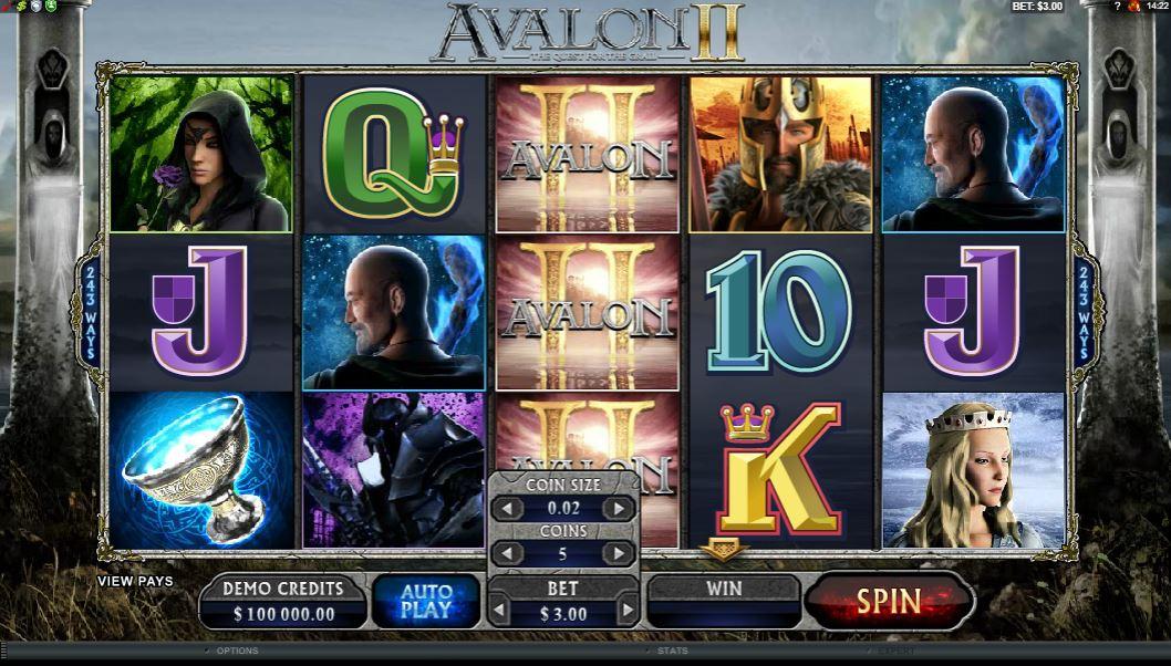 Avalon 2 Slot Gameplay