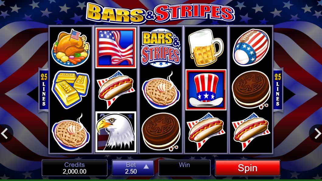 Bars & Stripes Slot Gameplay