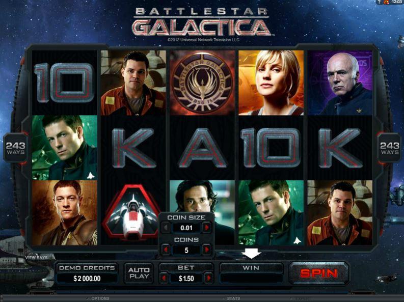Battlestar Galactica Slot Gameplay