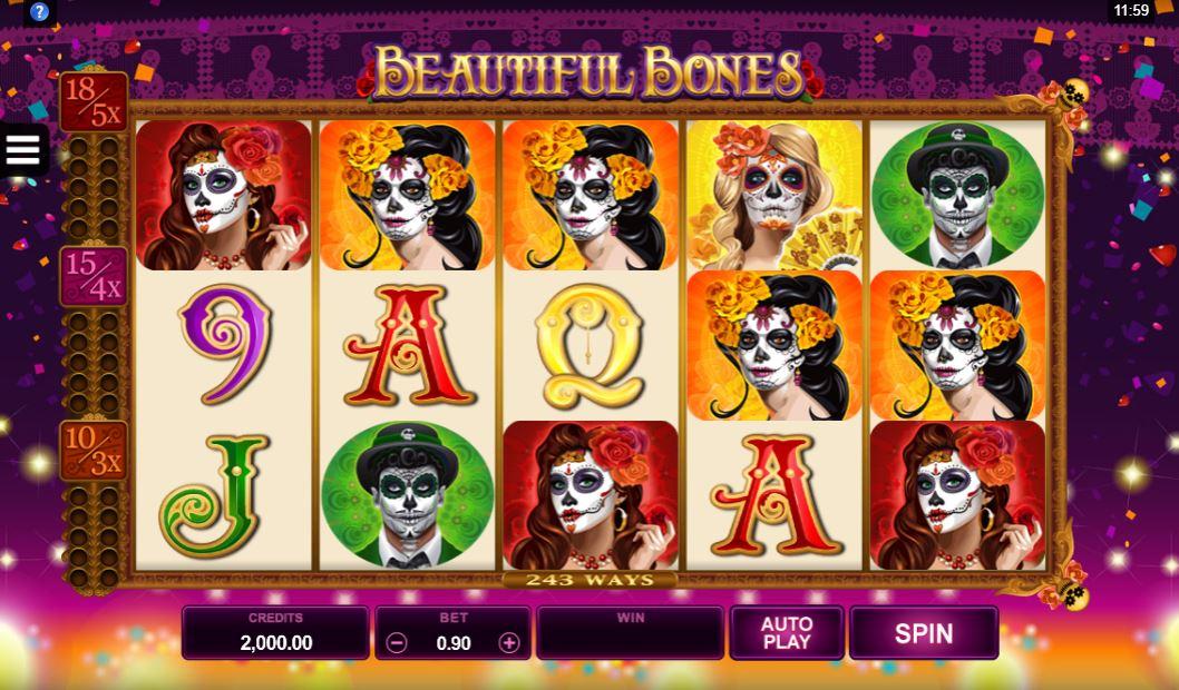 Beautiful Bones Slot Gameplay