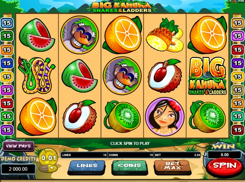 Big Kahuna Snakes and Ladders Gameplay