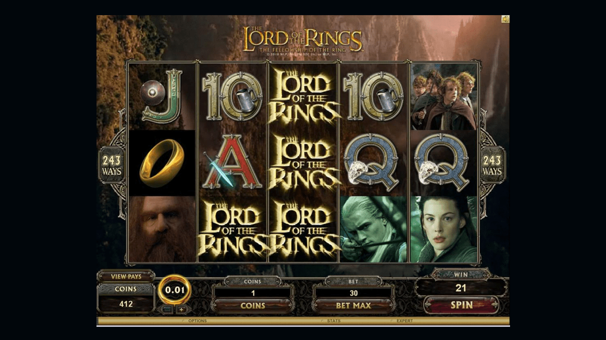lord of the rings slot screenshot