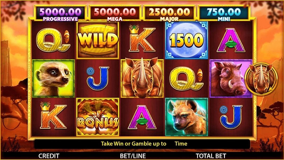 rhino rampage slot screenshot