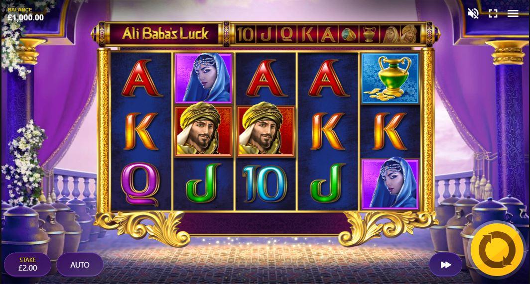 Ali baba's luck slot gameplay