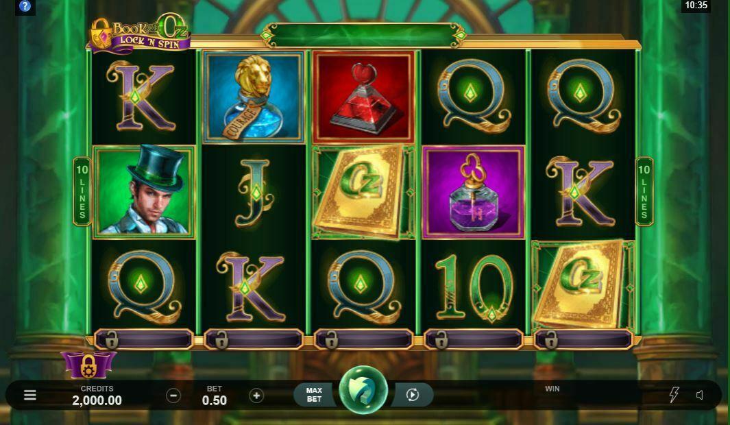 Book of Oz Lock N Spin Gameplay
