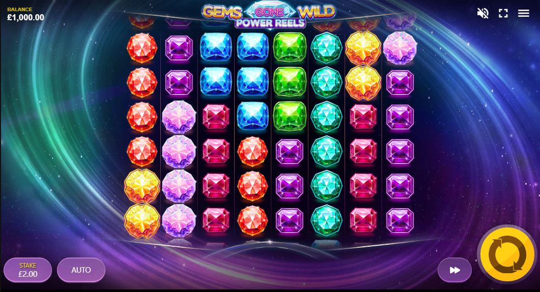 Gems gone wild power reels gameplay