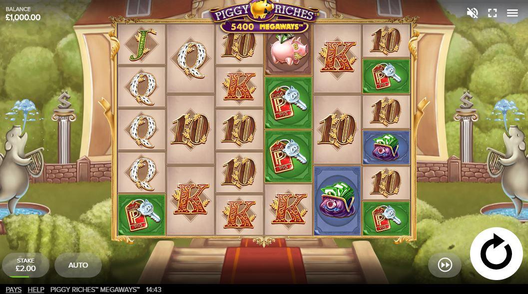 Piggy Riches Megways Gameplay