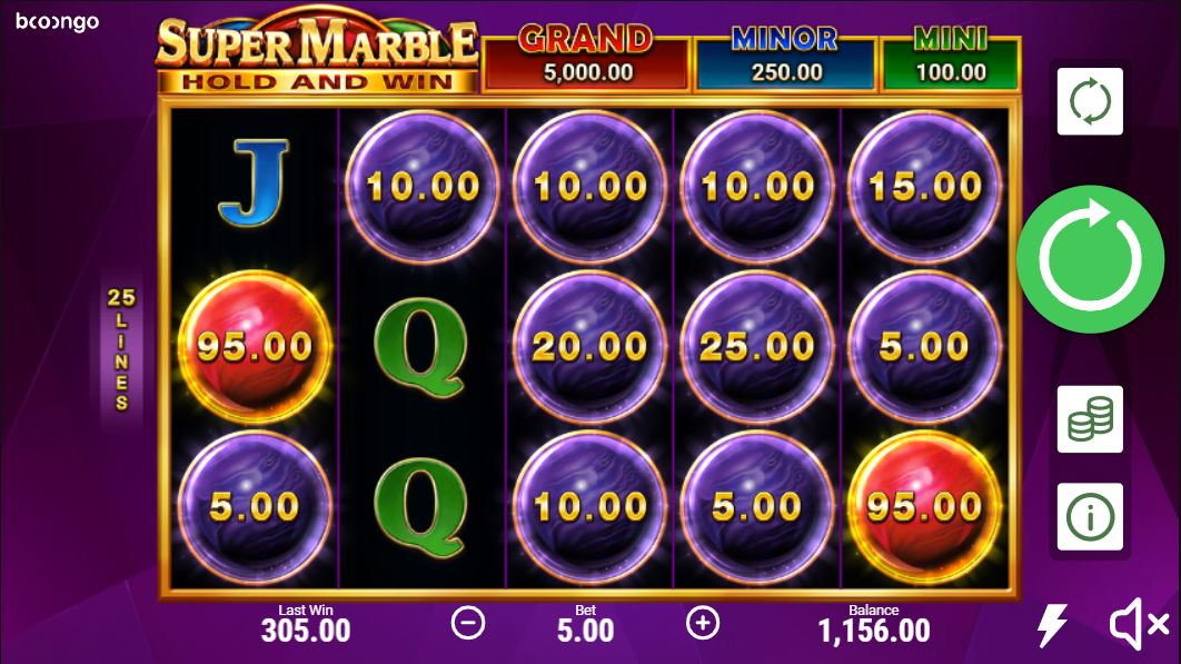 Super marble slot gameplay
