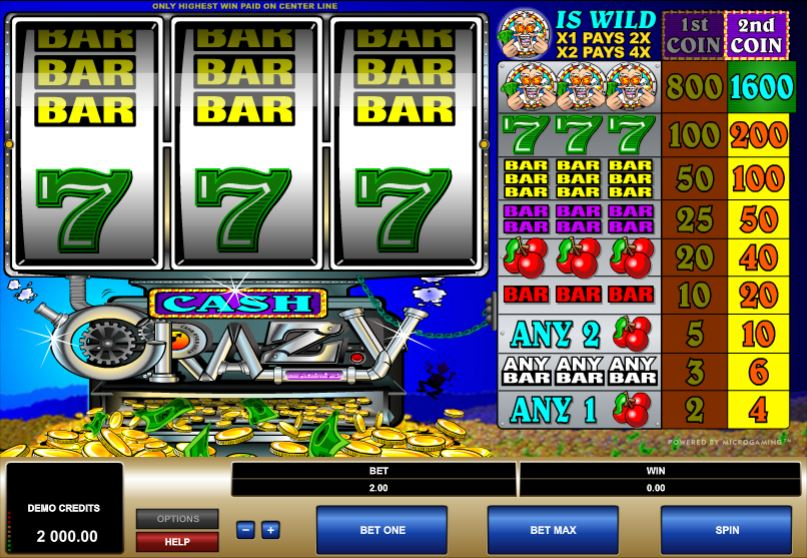 cash crazy slot gameplay