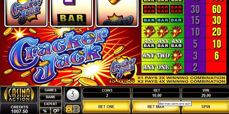 cracker jack slot gameplay