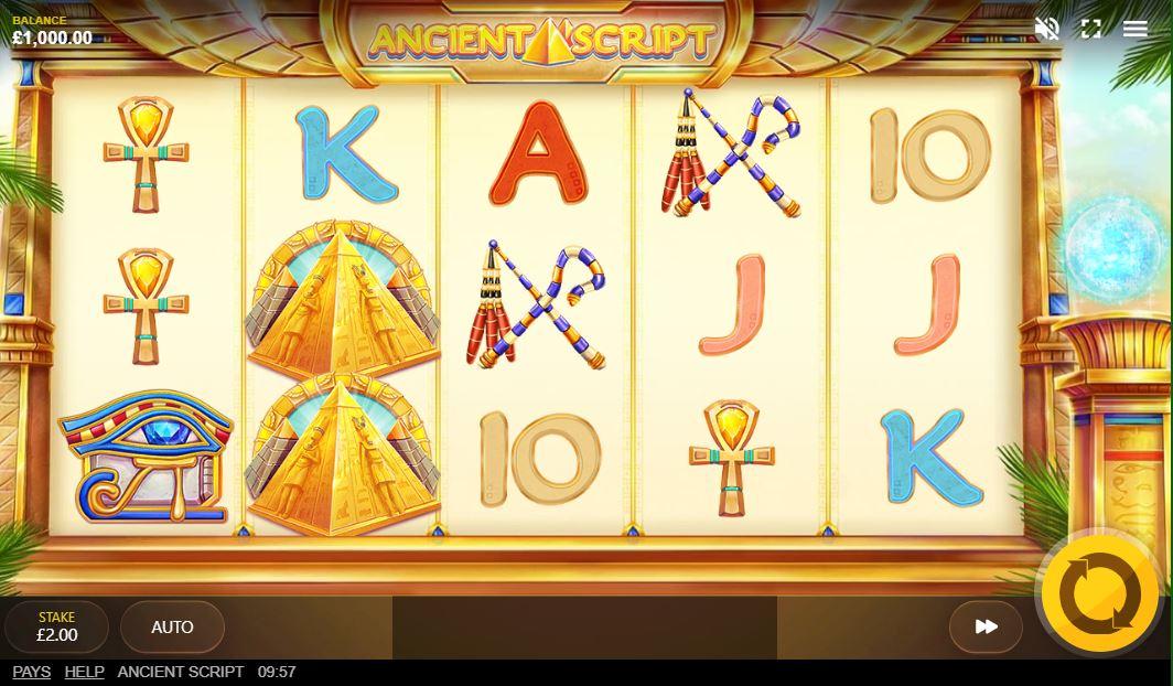 Ancient Script Slot Gameplay