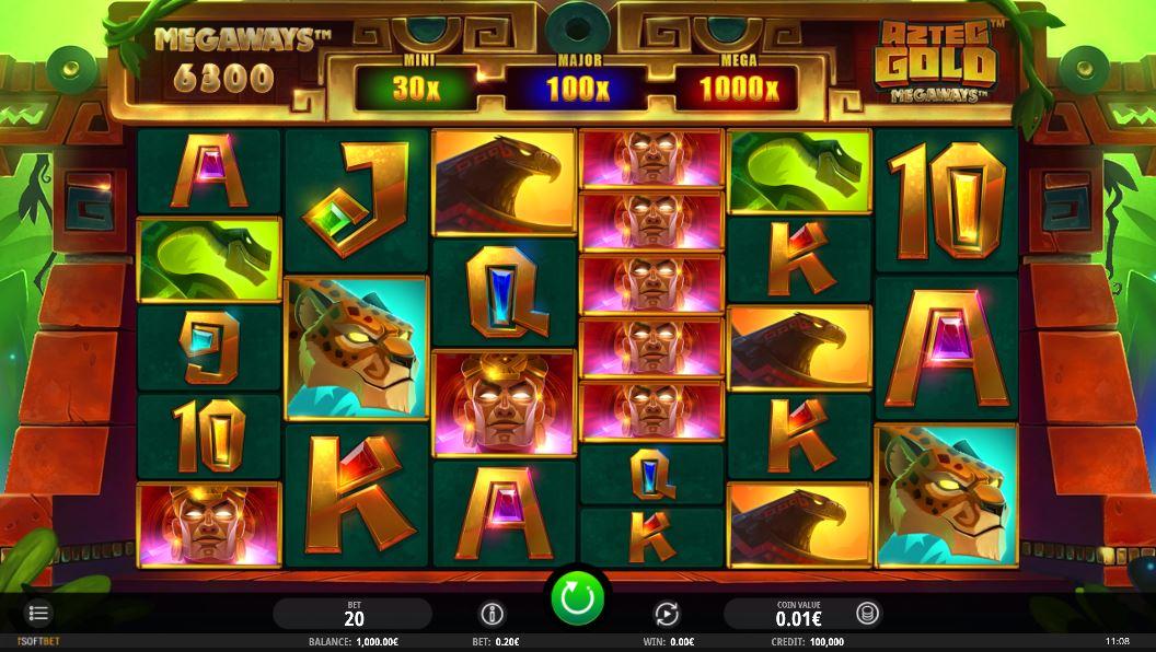 Aztec Gold Megaways Gameplay