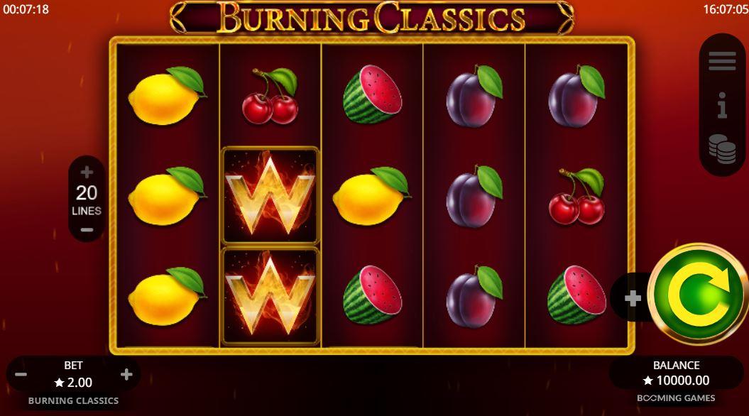 Burning Classics Slot Gameplay