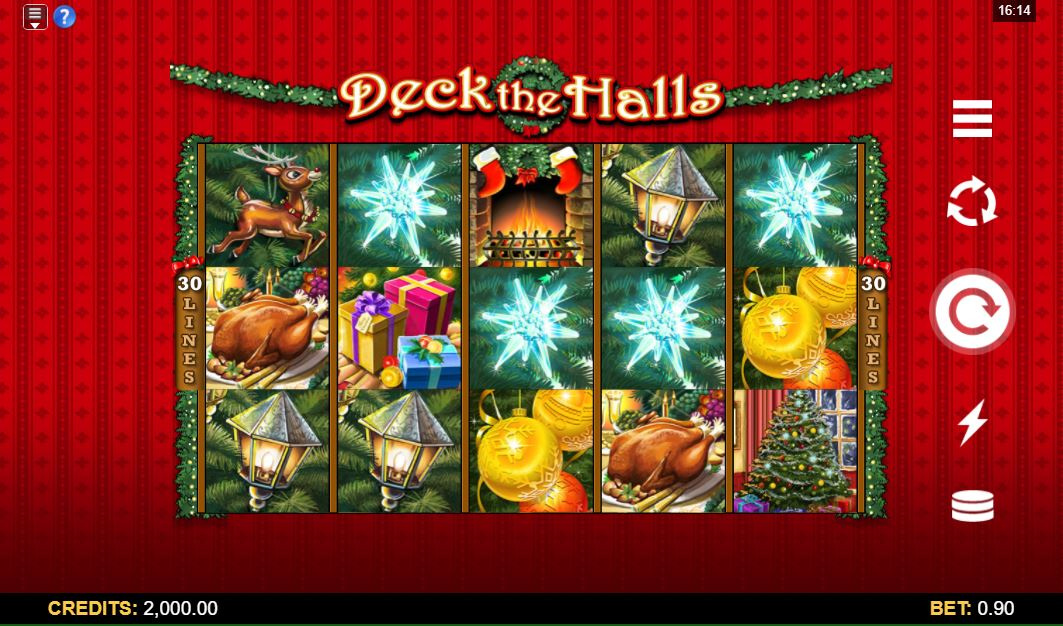 Deck The Halls Slot Gameplay