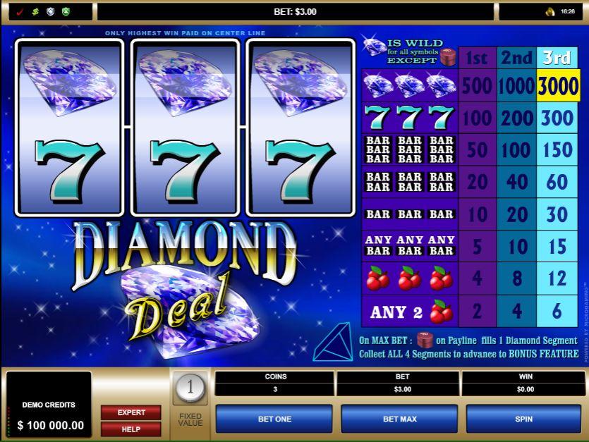 Diamond Deal Slot Gameplay