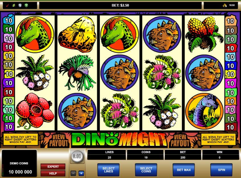 Dino Might Slot Gameplay