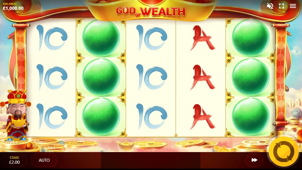 God of Wealth Slot Gameplay