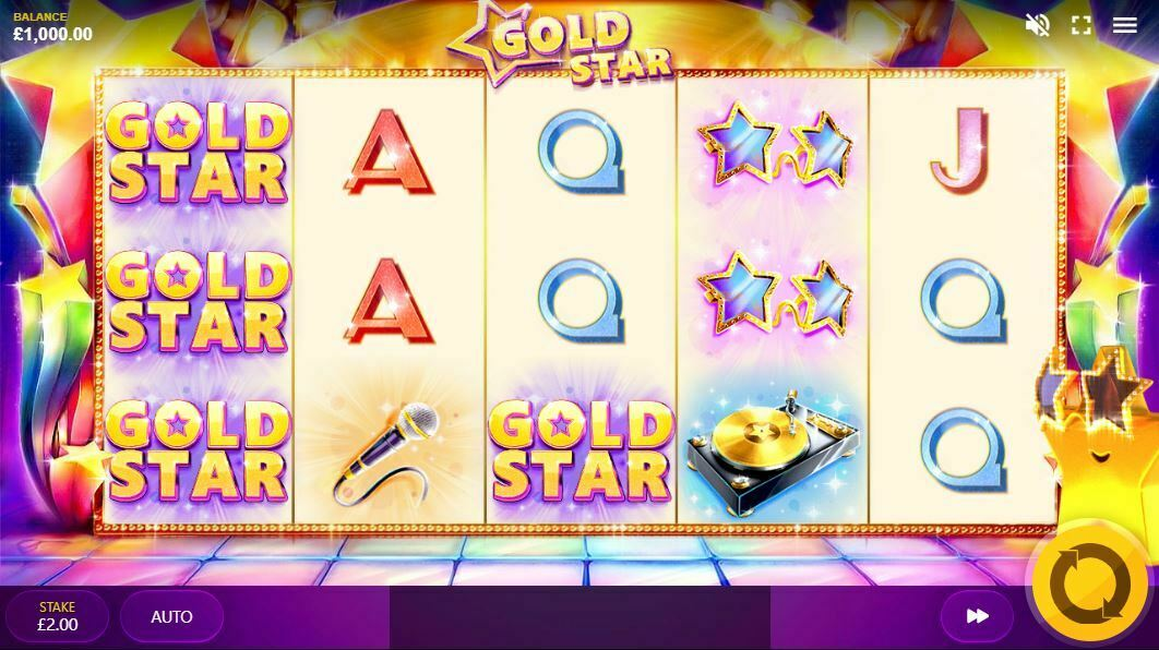 Gold Star Slot Gameplay