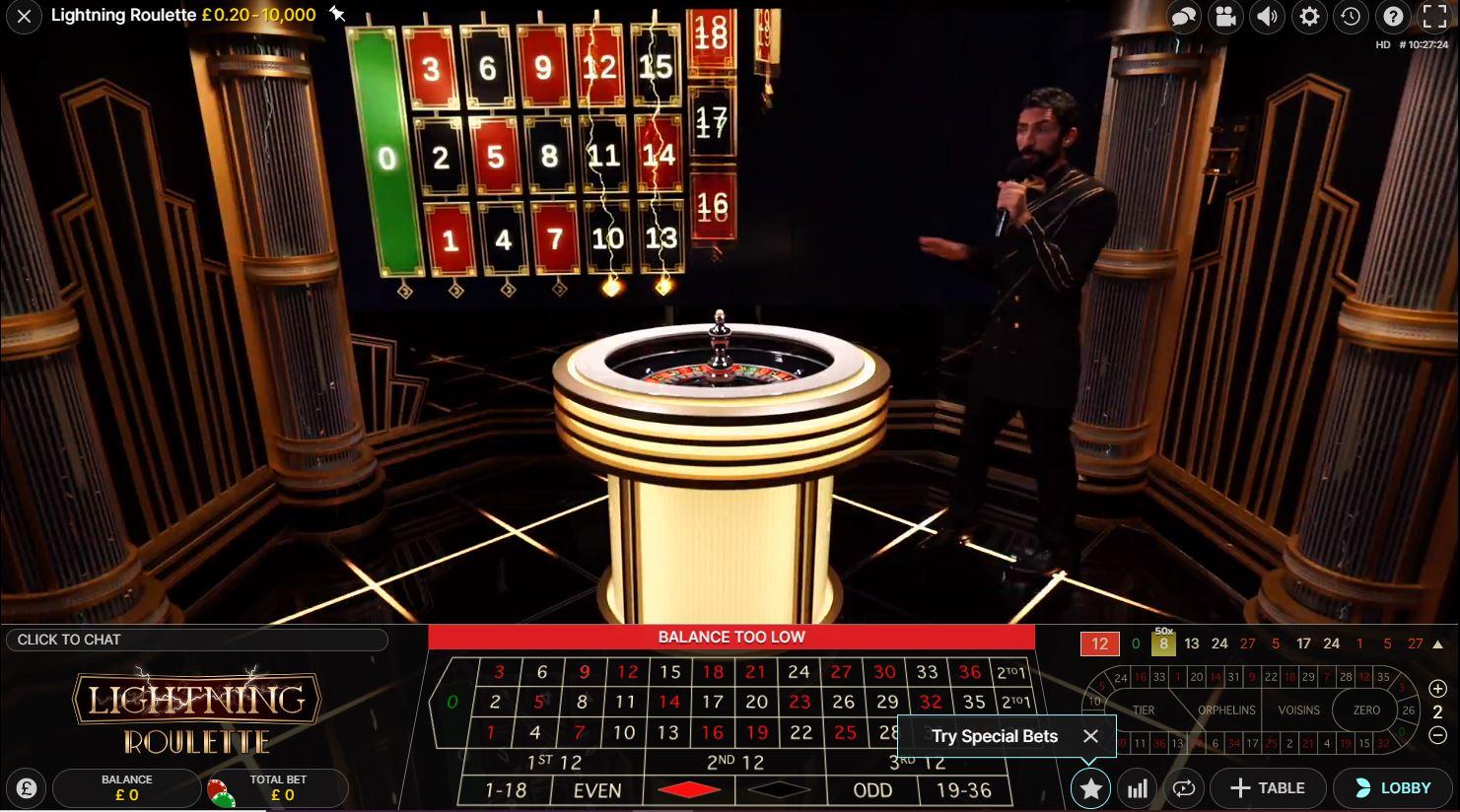Lightning Roulette Gameplay
