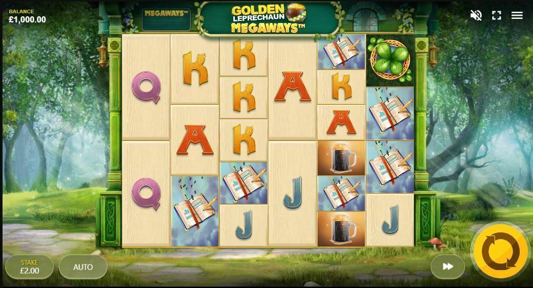 Golden Leprechaun Megaways Gameplay
